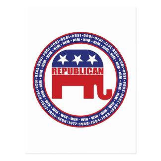 Años que ganan republicanos postal
