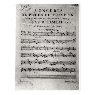 Anote la hoja para 'Concerts de Pieces de Postales