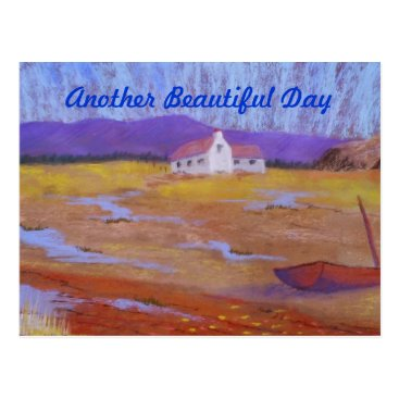 Beach Themed another beautiful day postcard