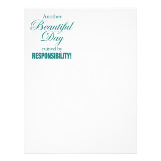 Another Beautiful Day Ruined! Letterhead