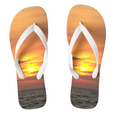 Beach Themed Another Beautiful Sunset Flip Flops