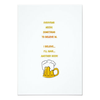 Another beer 5x7 paper invitation card