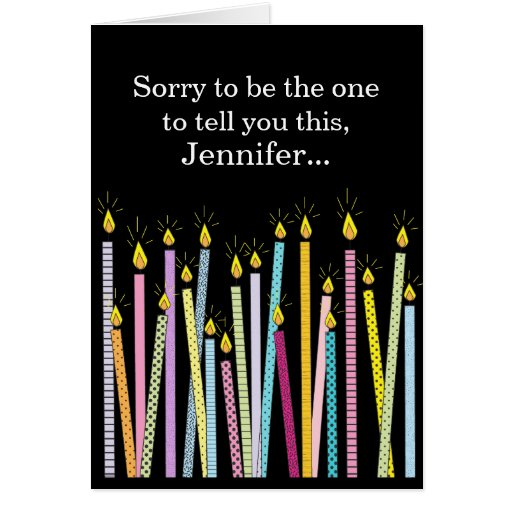 Another Birthday Getting Old Personalized Birthday Greeting Card
