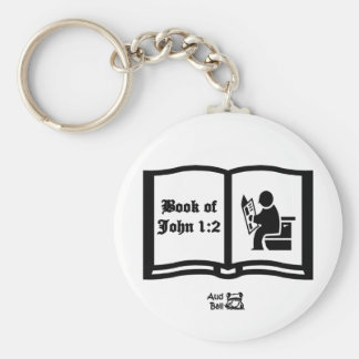 Another Book of John verse 1:2 Keychain