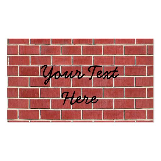 Another brick in the wall Double-Sided standard business cards (Pack of 100)