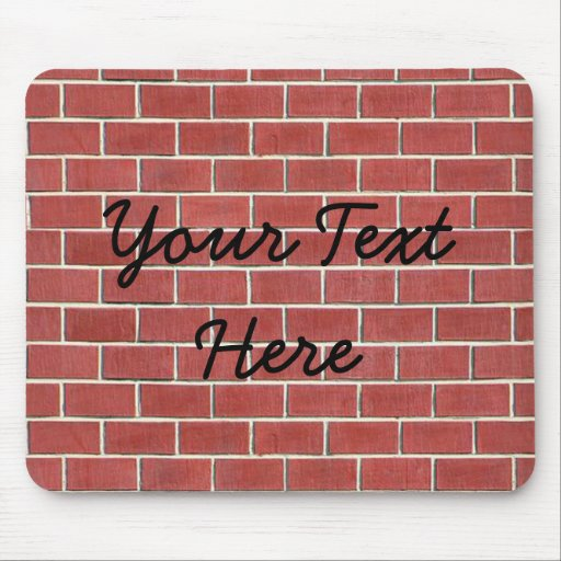 Another brick in the wall mouse pad