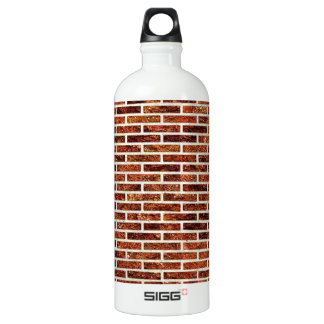 ANOTHER BRICK IN THE WALL! (Red Brick Pattern) ~ Aluminum Water Bottle