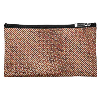 ANOTHER BRICK IN THE WALL Red Brick Pattern Cosmetic Bags