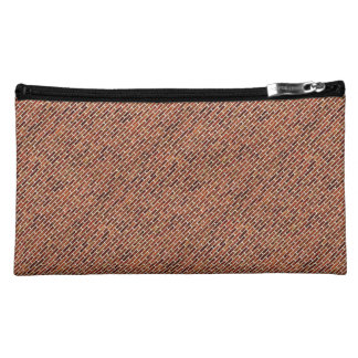 ANOTHER BRICK IN THE WALL Red Brick Pattern Makeup Bags