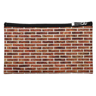 ANOTHER BRICK IN THE WALL Red Brick Pattern Cosmetics Bags
