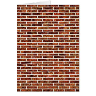 ANOTHER BRICK IN THE WALL! (Red Brick Pattern) ~ Card