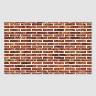 ANOTHER BRICK IN THE WALL! (Red Brick Pattern) ~ Rectangle Sticker