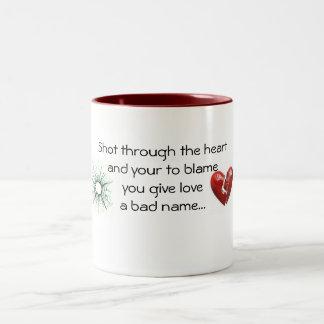 another broken heart Two-Tone coffee mug