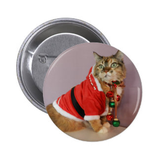 Another Christmas Santa cat Button