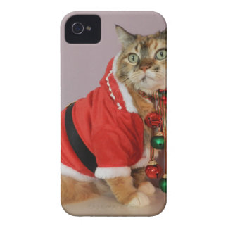Another Christmas Santa cat Case-Mate iPhone 4 Cases