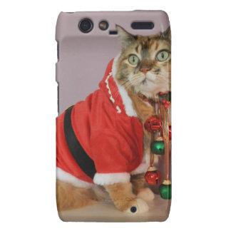 Another Christmas Santa cat Motorola Droid RAZR Case