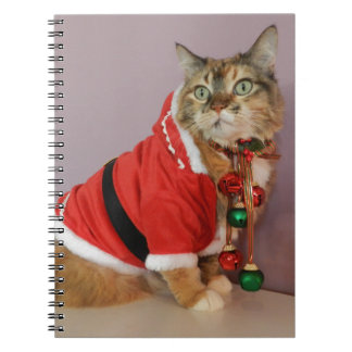 Another Christmas Santa cat Spiral Notebooks