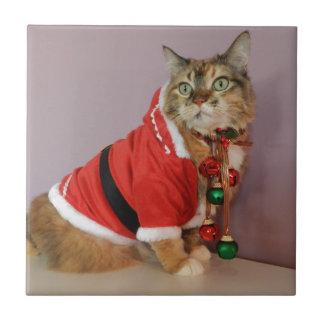 Another Christmas Santa cat Ceramic Tiles