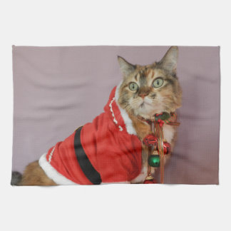 Another Christmas Santa cat Towels