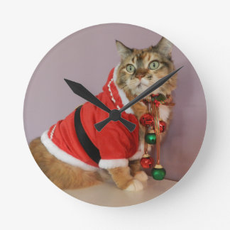 Another Christmas Santa cat Wall Clock