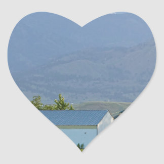 Another Colorado Country Landscape Heart Sticker
