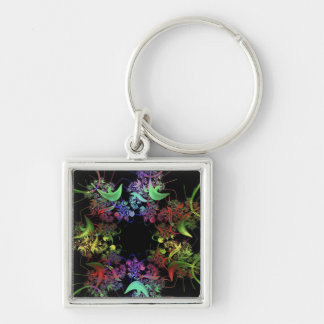 another-colourful-fractal key chains