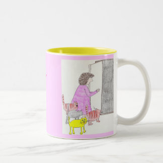 another crazy cat lady Two-Tone coffee mug