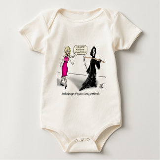 Another Danger of Bipolar: Flirting With Death Baby Bodysuit