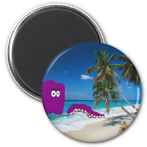 Another day at the beach refrigerator magnet