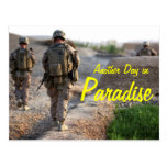 Another Day in Paradise Afghanistan Postcard
