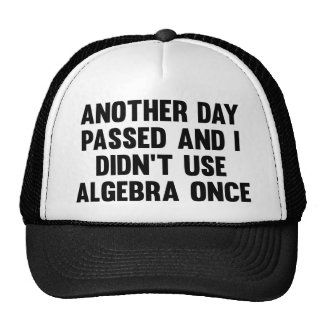 Another Day Passed And I Didn't Use Algebra Once Trucker Hats