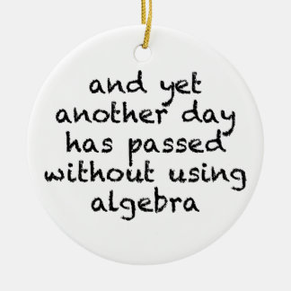 Another Day Without Algebra Ceramic Ornament