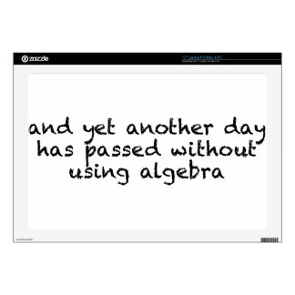 Another Day Without Algebra Decal For Laptop