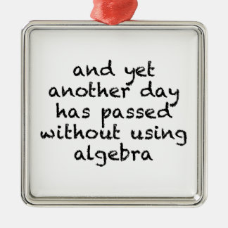 Another Day Without Algebra Metal Ornament