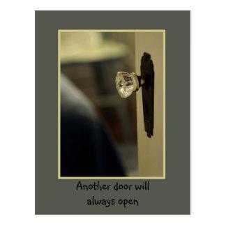 Another door will always open postcard