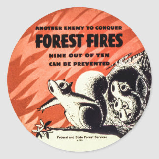 Another Enemy to Conquer Forest Fires Vintage Classic Round Sticker