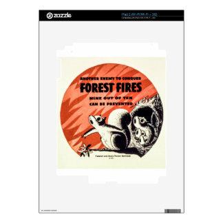 Another Enemy to Conquer Forest Fires Vintage Decals For iPad 2