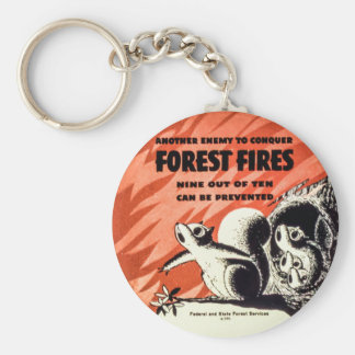 Another Enemy to Conquer Forest Fires Vintage Keychain