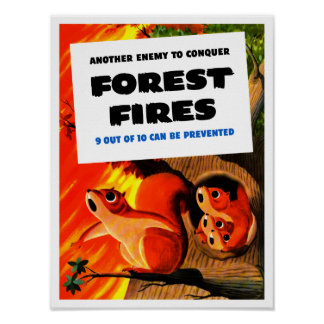 Another Enemy To Conquer Forest Fires -- WWII Print