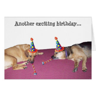 Another exciting birthday... greeting card