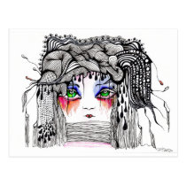 artsprojekt, ink, drawing, postcard, argentina, patricia, vidour, artistic, creative, line, minimalism, art, passion, minimalist, female, black, white, girl, eyes, wake, inspiring, inspirational, portrait, fantasy, caligraphy, painting, tango, illustrations, animate being, Antarctic krill, hoyden, Organ (anatomy), conservativist, optics, storminess, Iris (anatomy), pentimento, Focus (optics), achromatic color, Lens (anatomy), Cartão postal com design gráfico personalizado
