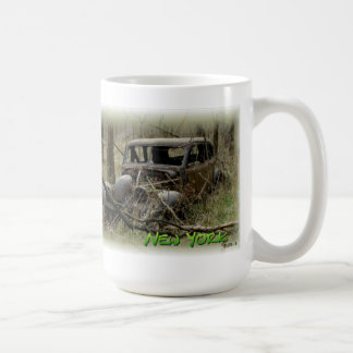 Another forgotten car in the woods coffee mug