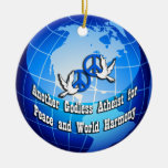 Another Godless Atheist for Peace Round Ornament