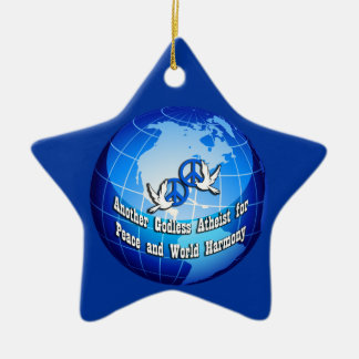 Another Godless Atheist for Peace Star Ornament