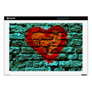 "Another heart in the wall decals for 17"" laptops"