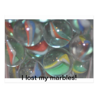 Another I lost my marbles Postcard