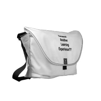 another learning experience black text messenger bag