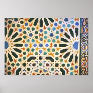 Another Moorish Tile Poster
