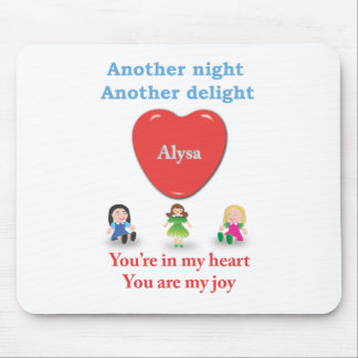 Another night another delight - Alysa Mouse Pad