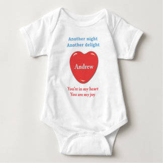 Another night another delight  Andrew w o racecars Baby Bodysuit
